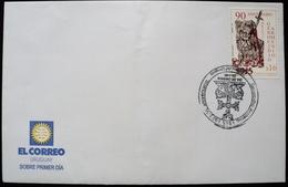 2005 URUGUAY FDC POSTMARK FLAMME 90 Years Genocidio Armenio Armenian Genocide Armenien Armenia Armenie Blood Sword Cross - Uruguay