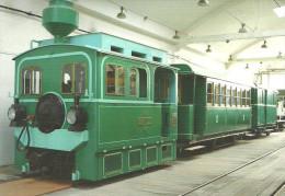 RAIL RAILROAD TRAIN COMMUTER RAIL SUBURBAN RAILWAY HEV BKV HARASZTI TRANSPORT MUSEUM SZENTENDRE Top Card 0370 * Hungary - Trains