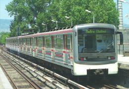UNDERGROUND * SUBWAY METRO * RAIL RAILWAY RAILROAD TRAIN * STATION ELEKTRODEPO TBILISI GEORGIA * Top Card 0391 * Hungary - Métro