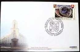 2011 URUGUAY FDC POSTMARK FLAMME 90 Years Relations Czechoslovakia Rep. Ceska Slovakia-hordoge Astronomique Astronomy - Uruguay