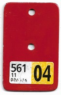 Velonummer VIGNETTE Nach Den Velonummern Solothurn SO 04 - Number Plates