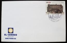 2001 URUGUAY FDC POSTMARK FLAMME Museo De Artes Visuales - Visual Art Museum - Musée Arts Visuels - Uruguay