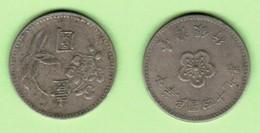 TAIWAN  1 YUAN 1960 (YEAR 49) (Y # 536) #6102 - Taiwán