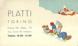 """7590 """" PLATTI-TORINO-PASTICCERIA """" ANNI '40 - Visiting Cards"""