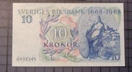 SVEDEN  10 KRONOR 1968  UNC  D-0297 - Schweden