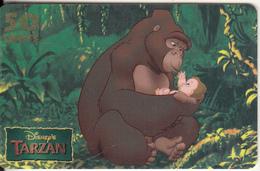 "SAN MARINO - Disney""s/Tarzan, Westel/Intelcom Prepaid Card 50 Units, Exp.date 31/12/00, Mint - San Marino"