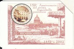 VATICAN - 150° Del Primo Francobollo Pontificio 1852-2002(99), Tirage 8000, Exp.date 01/09/04, Used - Vaticaanstad