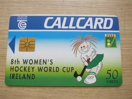Chip Phonecard, Women's Hockey World Cup,used - Irlande