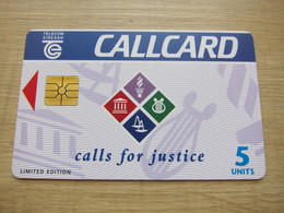 Limited Edition Chip Phonecard, Call For Justice,mint - Irlande