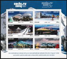 Russia 2014 Sochi Olympic Games Venues Souvenir Sheet From 2013   MNH/** (LAR-H35) - Winter 2014: Sotschi