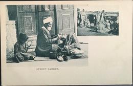 EGITTO, EGIPT........Costume PC............Street Barber....1900 Ca. - Asiut