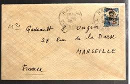 30822 - 1 TP Surchargé - Briefe U. Dokumente