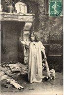 ENFANTS 995 : Noel , Cheminée  Poupée , Petit Chien  ; édit. Bergeret , Cliché Walery - Enfants