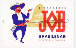 Buvard 21 X 13.4 Cigarettes JOB Brasilenas   Mexicain Lasso - Tabak & Cigaretten