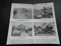 """Origineel Knipsel ( 3634 ) Uit Tijdschrift """" Ons Volk """" 1926 :   Vliegtuig  Wolverthem  Wolvertem - Old Paper"""