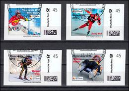 Sporthilfe-Marken Selbstklebend Winterspiele 2010, 4 Werte, SSt Frankurt 12.2.10 - Winter (Other)
