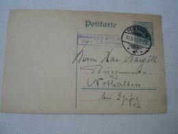 Fegersheim  Occupation Alsace 1904 Obliteration Sur Lettre  Entier Postal Allemand - Marcofilie (Brieven)