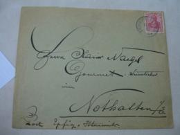 Eichhofen Elsass Occupation Alsace Obliteration Sur Lettre Timbre Allemand - Marcofilia (sobres)