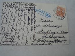 Gunserhofen Gundershoffen Occupation Alsace Obliteration Sur Lettre Timbre Allemand Censure P K Haguenau - Marcofilia (sobres)
