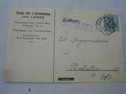 Lot De 2 Barr  Occupation Alsace  Obliteration Sur Entier Postal Allemand 1 Etoile  Cachet Censure Strasbourg Sur Lettre - Marcofilia (sobres)