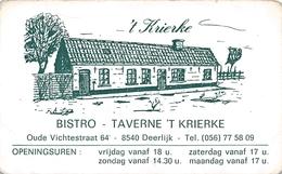 Kaartje Bistro Taverne 'r Krierke - Deerlijk - Deerlijk
