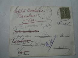 Glandon Facteur Boitier Obliteration Sur Lettre - Postmark Collection (Covers)