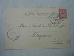 Vezeronce Facteur Boitier Cachet Perle Obliteration Lettre - Postmark Collection (Covers)