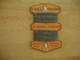 Mercerie Ancienne  Laine De Pingouin Cachemire A Repriser  Carte A Fil Vintage  Fashion Mode - Habits & Linge D'époque