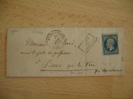 Apres Le Depart Arles Sur Rhone  Petit Chiffre 161 Obliteration Sur Lettre Le Pin Cachet Type 22 - Marcophilie (Lettres)
