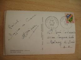 Vault De Lugny   Facteur Boitier Cachet Perle Obliteration Sur Lettre - Marcofilie (Brieven)