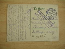 Mulhausen Els Dornach 1918  Cachet Censure Mulhausen P K  GUERRE 14.18 - Marcofilie (Brieven)