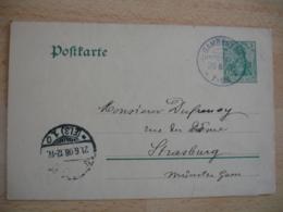 Lot De 2 Gambsheim  Obliteration Sur Entier Postal Guerre 14.18 - Marcofilie (Brieven)