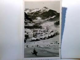 Canazei Di Fassa Verso Il Catinaccio. Trentino / Italien. Seltene AK S/w. Ortsansicht Mit Kirche, Winterpanora - Italia