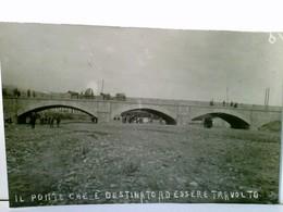 Catania ? / Sizilien / Italien. Seltene AK S/w . Il Ponte Che E Destinato Ad Essere Travolto.Brückenansicht, P - Italie