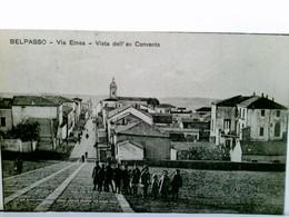 Belpasso / Catania / Sizilien. Seltene AK S/w. Belpasso - Via Etnea - Vista Dell'ex Convento. Ortsansicht Mit - Zonder Classificatie