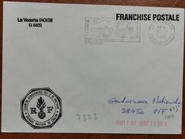 Lettre En FM De La Vedette IROISE De La Brigade De Gendarmerie Nautique De Crozon En 1994 - Marcophilie (Lettres)