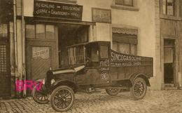 Photo : Arlon, Maison : Reichling, Dousemont, Essence , Charbon Huile , Photo D'une Ancienne Carte Postale, 2 Scans - Automobiles