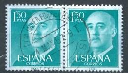 ESPAÑA 1956 (O) USADOS ED-1155 BL.2 GENERAL FRANCO (MATASELLO San Francisco JAVIER-FORMENTERA) - 1951-60 Afgestempeld