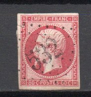 - FRANCE N° 17B Oblitéré Losange GC 532 - 80 C. Carmin Type Napoléon III 1859 - Cote 60 EUR - - 1853-1860 Napoleone III