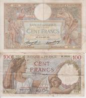 FRANCE  -  100 FRANCS  -  LOT DE 2 BILLETS  -  1937  -  1940  - - 1871-1952 Anciens Francs Circulés Au XXème