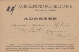 Correspondance Militaire / Franchise Postale. - Franchise Militaire (timbres)