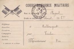 Correspondance Militaire / Cachet Départ Nîmes. - Franchise Militaire (timbres)