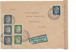 SH 0457. OSTLAND TP Mi 1 (3)-3-4 (2) RIGA/DEUTSCHE DIENSTPOST 30.1.43 S/L.AVION-CENSUREE V. KOEKELBERG/BRUXELLES (B) - Occupation 1938-45