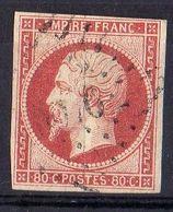FRANCE ( POSTE ) S&M  N° 17A  TIMBRE  BIEN  OBLITERE , A  SAISIR . R 7 - 1853-1860 Napoleon III