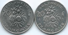 French Polynesia - 20 Francs - 1973 - KM9 & 2011 - KM9a - Colonies