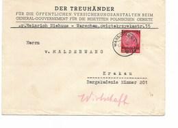 SH 0458. GENERALGOUVERNEMENT. OSTEN Mi 6 WARSCHAU C 1 13.V.40 S/Lettre Vers Krakau. TB - Occupation 1938-45
