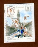 ITALIA 2018  Bandierai Degli Uffizi Firenze  A Zona 1 Su Frammento - 6. 1946-.. República