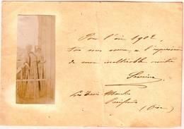 SEVERINE ( Caroline Remy ) Journaliste , Ecrivaine Et FEMINISTE Carte De Voeux Autographe 1902 Avec Sa PHOTO - Autographes