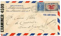 ETAS UNIS ENV 1940 SAN FRANCISCO LETTRE AVION => FRANCE + CENSURE AMERICAINE - Briefe U. Dokumente