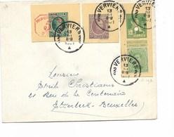 SH 0460. DECOUPURES D' EP (60A-75-83M1) + TP 137 VERVIERS 2 - 13.III.1931 S/Lettre Vers Etterbeek. TB - Covers & Documents
